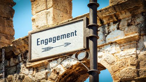 Fotografie, Obraz Street Sign to Engagement