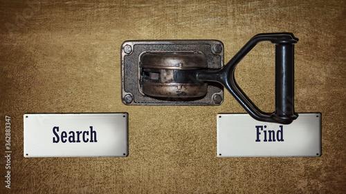 Fototapeta Street Sign Find versus Search