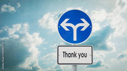Obraz na plátně Street Sign Thank You