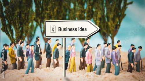 Fotografie, Obraz Street Sign to Business Idea
