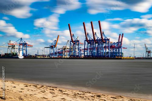 Cranes At Commercial Dock Fototapete