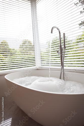 Running water in modern Bathtub