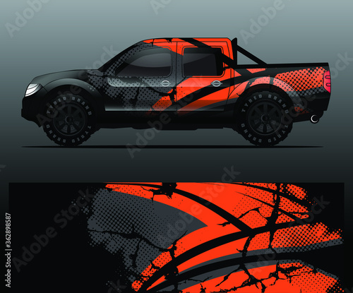 Fotografering truck and vehicle Graphic vector