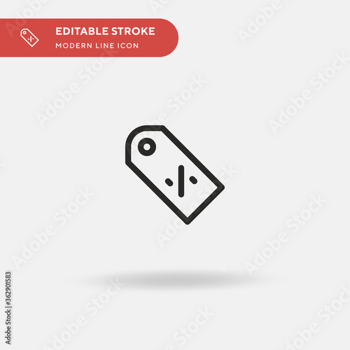 Price Tag Simple vector icon Wallpaper Mural