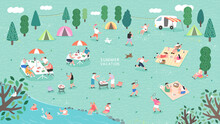 Summer Camp Festival. People O...