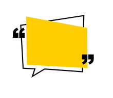 Yellow Quotation Mark With Spa...