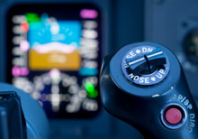 Close-up Of Buttons And Knob In Air Vehicle