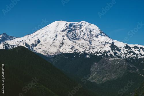 Mount Rainier and Blue Skies