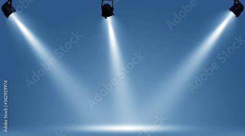 Fotografija Spotlights illuminate empty stage