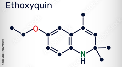 Ethoxyquin, EMQ,  antioxidant  E324 molecule Canvas-taulu