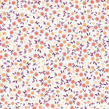 Lovely Ditsy Floral Seamless Pattern, Tiny Hand Drawn Flowers, Great As Background, For Textiles, Banners, Wallpapers, Wrapping - Vector Design