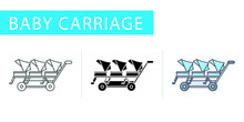 Icons Set, Baby Carriage Troll...