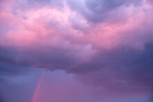 Purple And Pink Sunset After S...