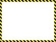 Construction warning border, vector illustration