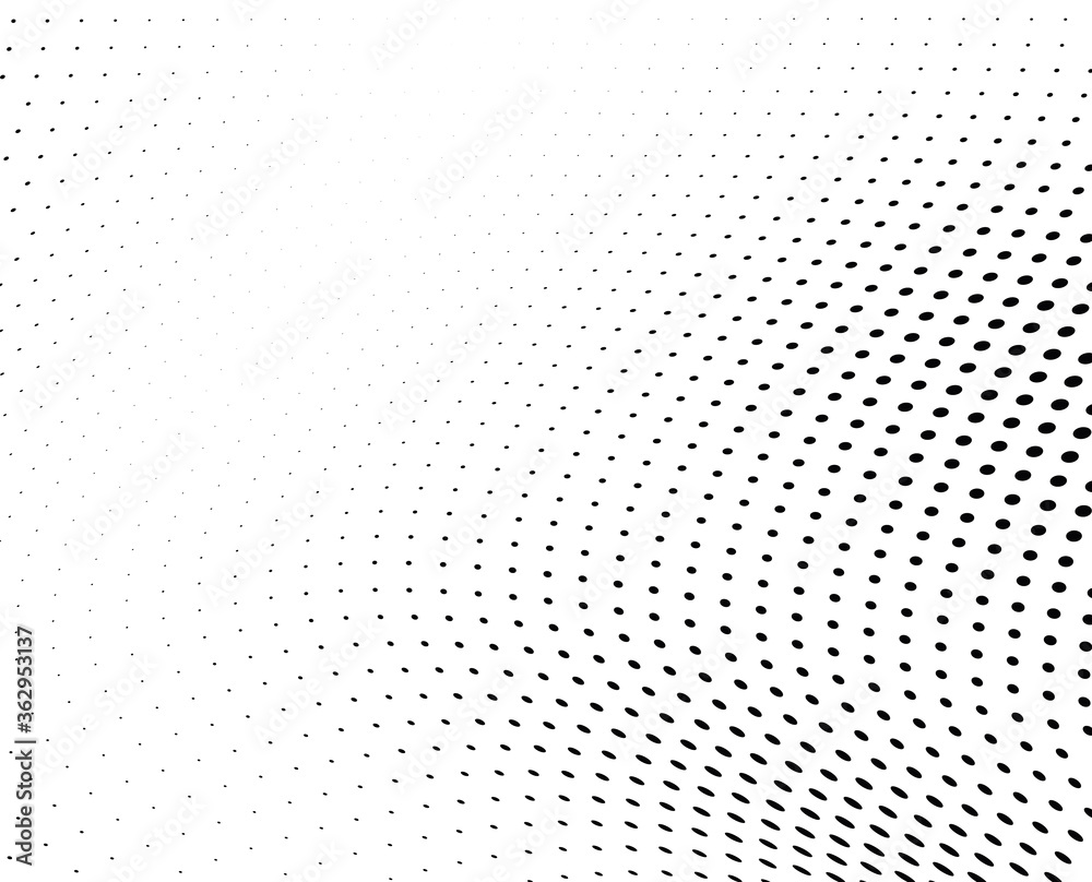 Fototapeta Black and white vector halftone. Industrial half tone texture. Subtle dotted gradient