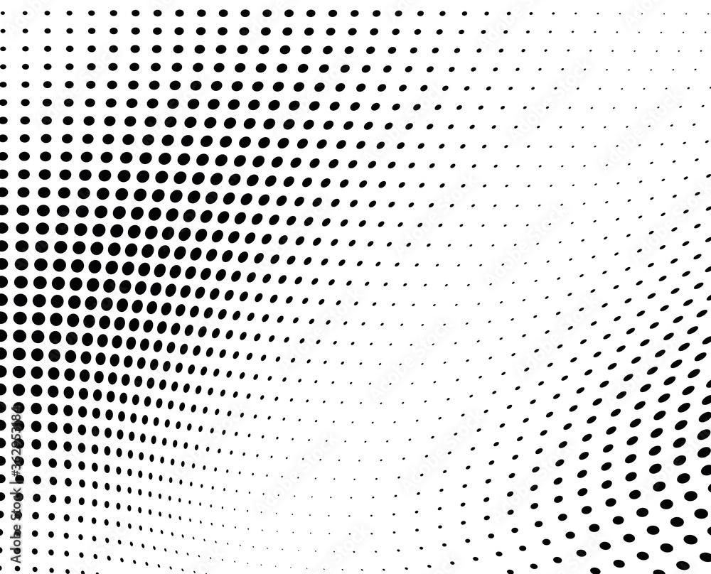 Fototapeta Black and white vector halftone. Industrial half tone texture. Subtle dotted gradient