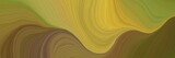 colorful and elegant vibrant background graphic with elegant curvy swirl waves background design with pastel brown, golden rod and dark olive green color