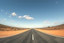 Road In Australia With Curved ...
