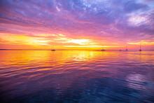 Sunset On Tropical Beach. Earl...