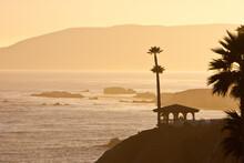 Romantic Golden Sunset Over Th...
