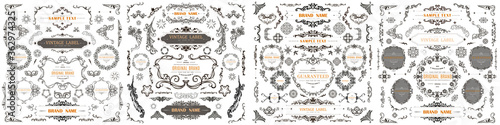 Fotografie, Tablou Set of Vintage Decorations Flourishes Elements. Vector