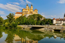 The Scenic View Of Melk Abbey....