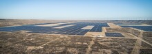 Panoramic Shot Of A Solar Fiel...