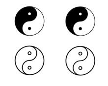 Yin Yang Vector Icon, Taoistic...