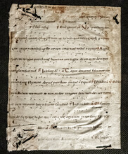 Tenth Century Leaf On Vellum Of A Missal Or Lectionary With Early Musical Notation Neumes