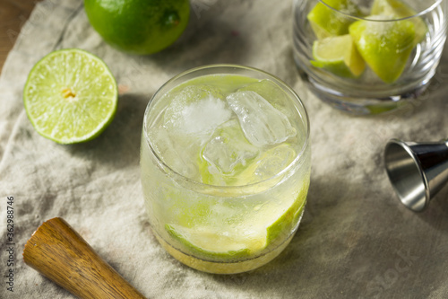 Refreshing Cold Caipirinha Cocktail with Cachaca © Brent Hofacker