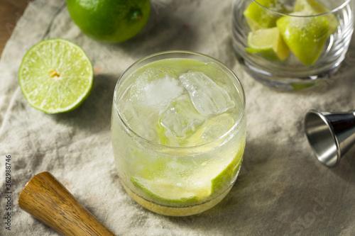 Refreshing Cold Caipirinha Cocktail with Cachaca