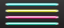 Color Neon Tube Lights Isolate...
