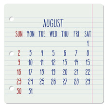 August Year 2020 Monthly Noteb...