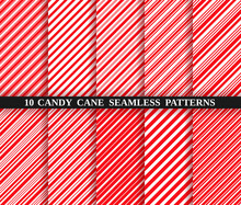Candy Cane Red Stripe Seamless...