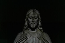Statue Of Jesus In Front Of Ch...