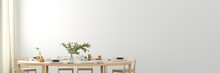 Blank White Wall Mock Up In Th...