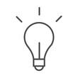 light bulb creativity idea line style icon