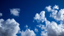 Deep Blue Sky With Clouds, Clo...