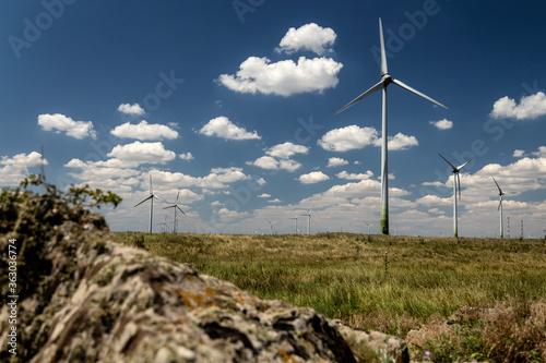 Wind turbines in Cogealac, Romania.