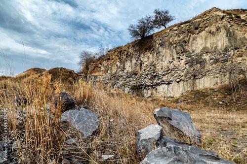 Basalt Columns, from Racos, Romania.