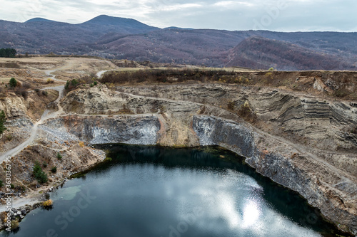 The lake near the Basalt Columns, from Racos, Romania.