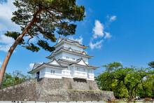 Odawara Castle Under The Blue Sky