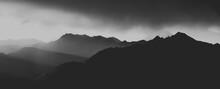 Silhouette Mountain Range Against Sky