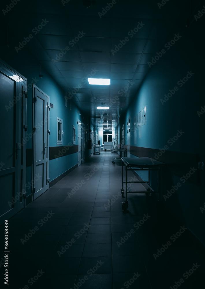 Fototapeta Empty Corridor In Hospital