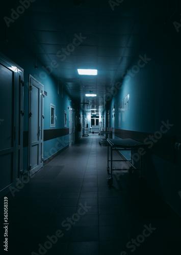 Photographie Empty Corridor In Hospital