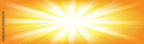 Bright sun on a yellow background - Illustration Fototapete