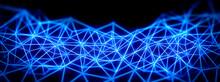 連結された青い光線