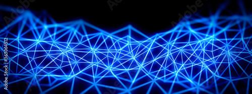 Canvastavla 連結された青い光線