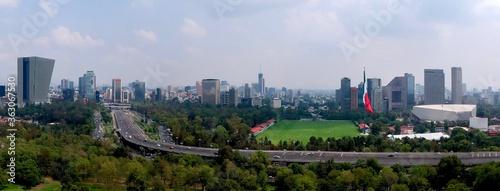 Fototapeta High Angle View Of Modern Buildings In City Against Sky obraz