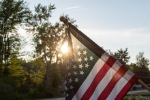 Sun Setting Behind The American